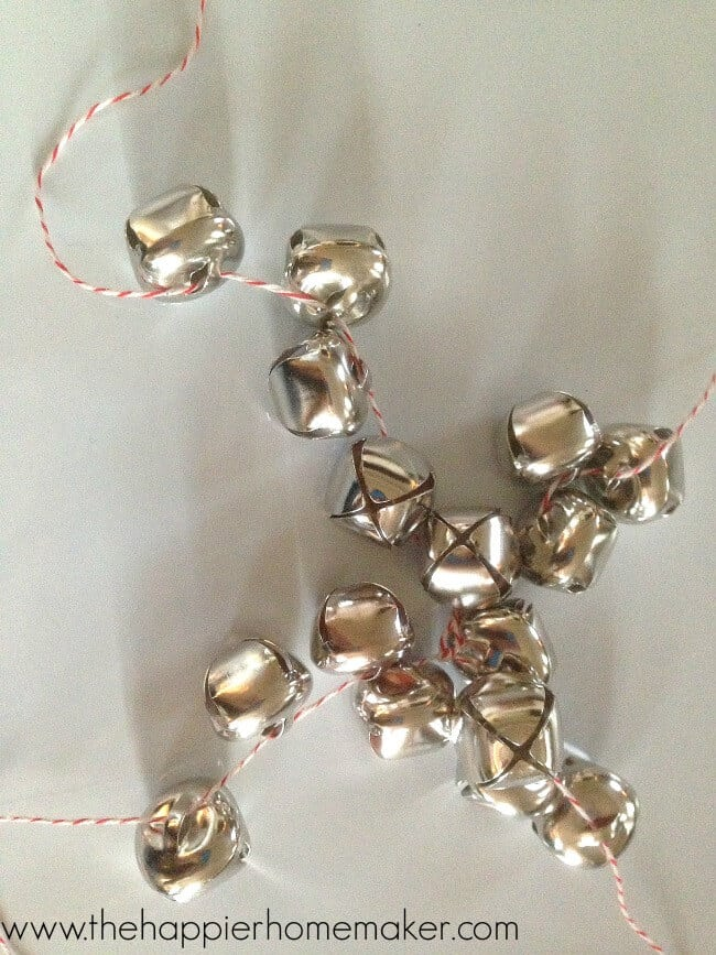 making ornament with bells