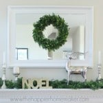 neutral christmas mantel Nov 2014