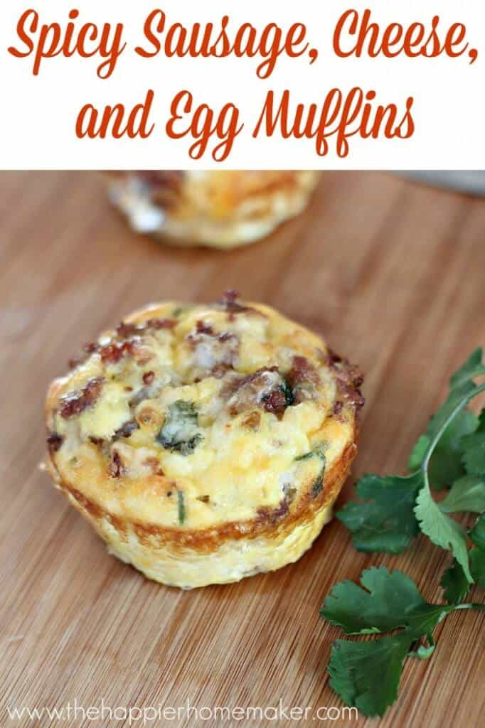 spicy sausage egg and cheese muffins