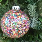 sprinkle diy christmas ornament