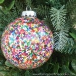 A DIY sprinkle ornament