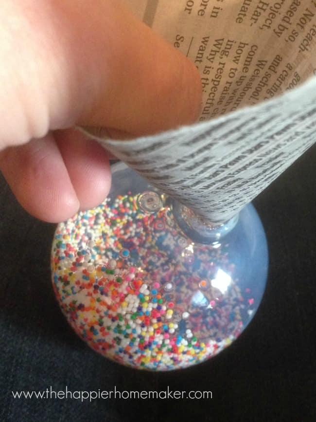 sprinkle ornament diy tutorial