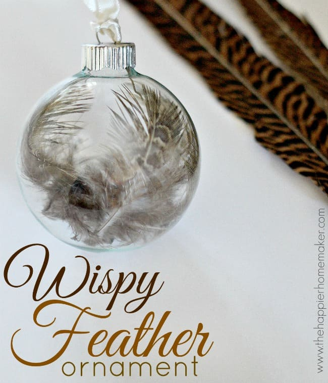 wispy feather ornament