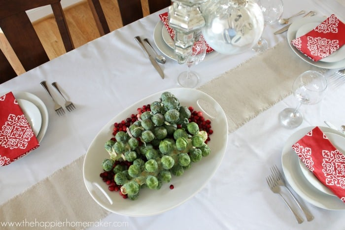 cranberry brussel sprout centerpiece