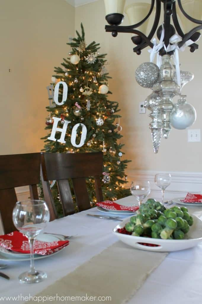 dining room xmas home tour