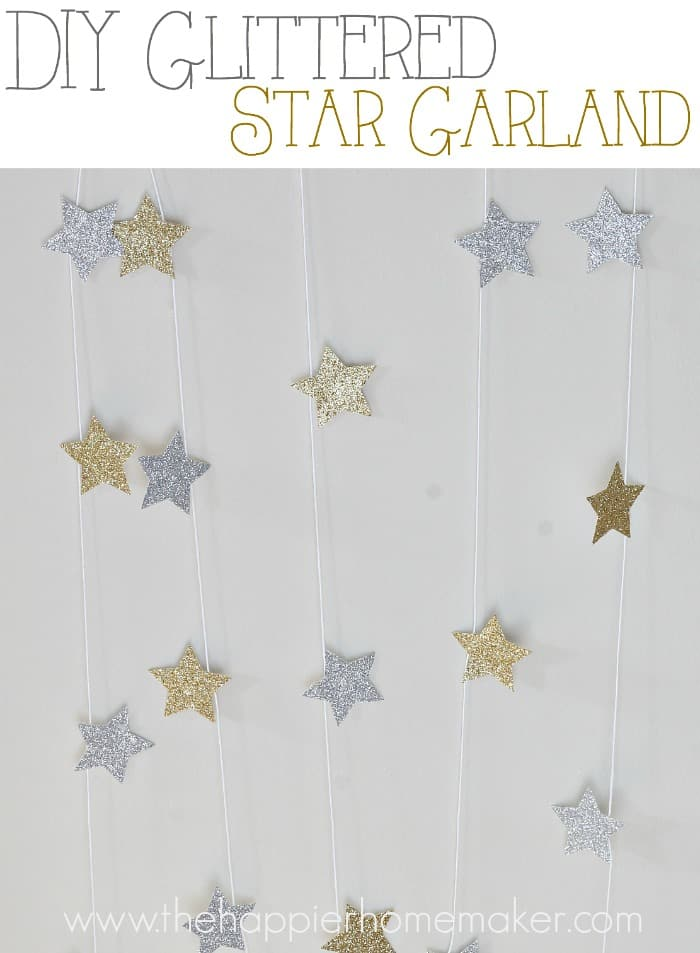 diy glittered star garland