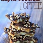 dark chocolate toffee recipe with nuts