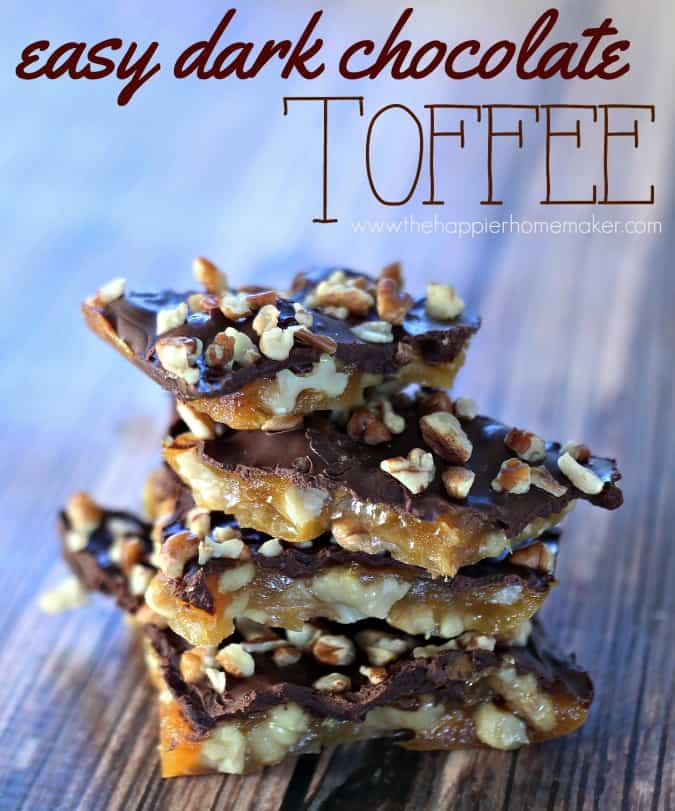 easy dark chocolate toffee recipe