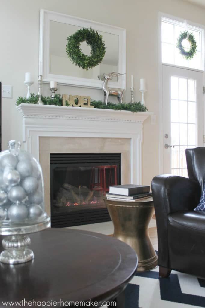 fireplace side family room home tour xmas