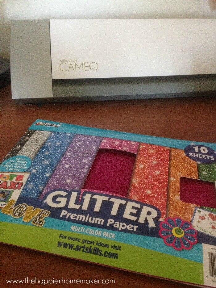 glitter garland supplies