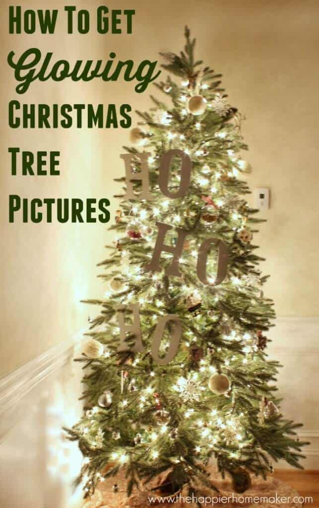 how to get glowing christmas tree pictures