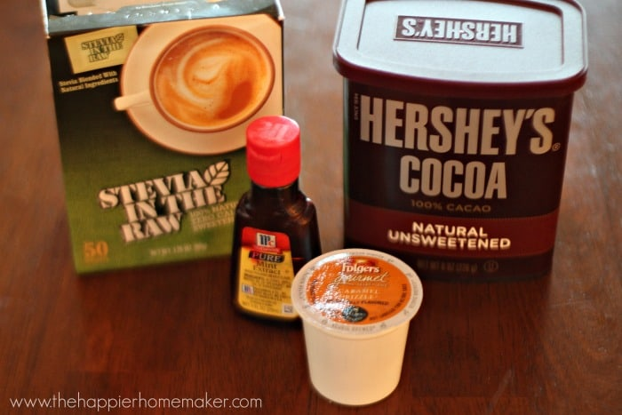 skinny peppermint mocha latte ingredients