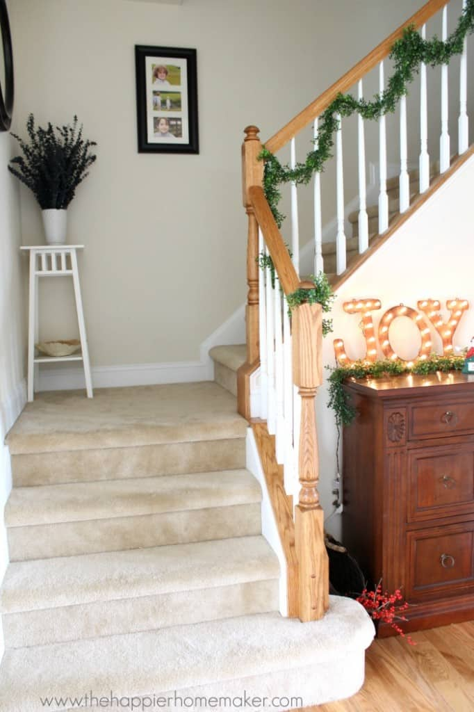 stairwell xmas home tour