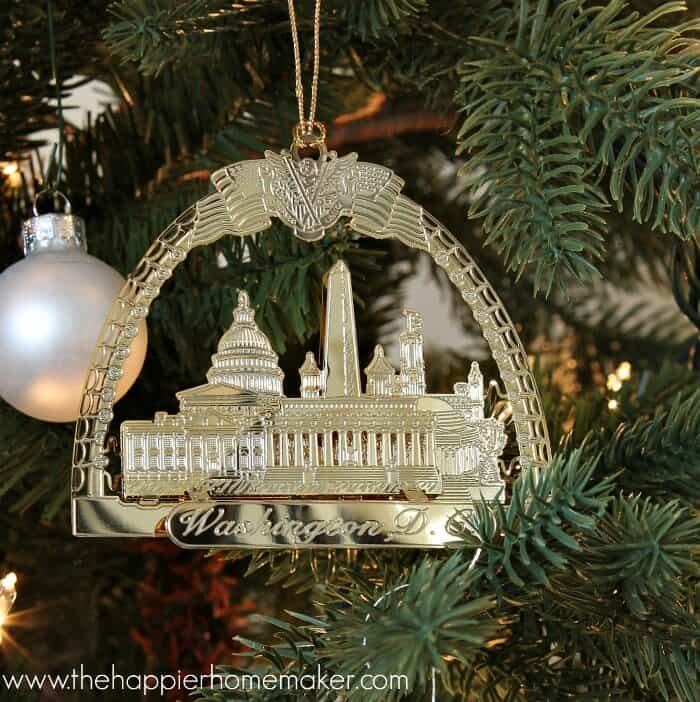 washington dc ornament