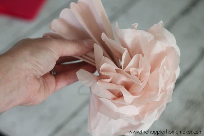 create paper peony
