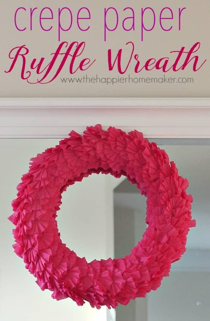 crepe paper ruffle wreath