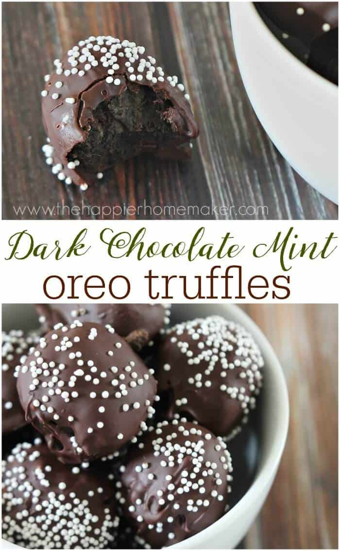 dark chocolate oreo truffles