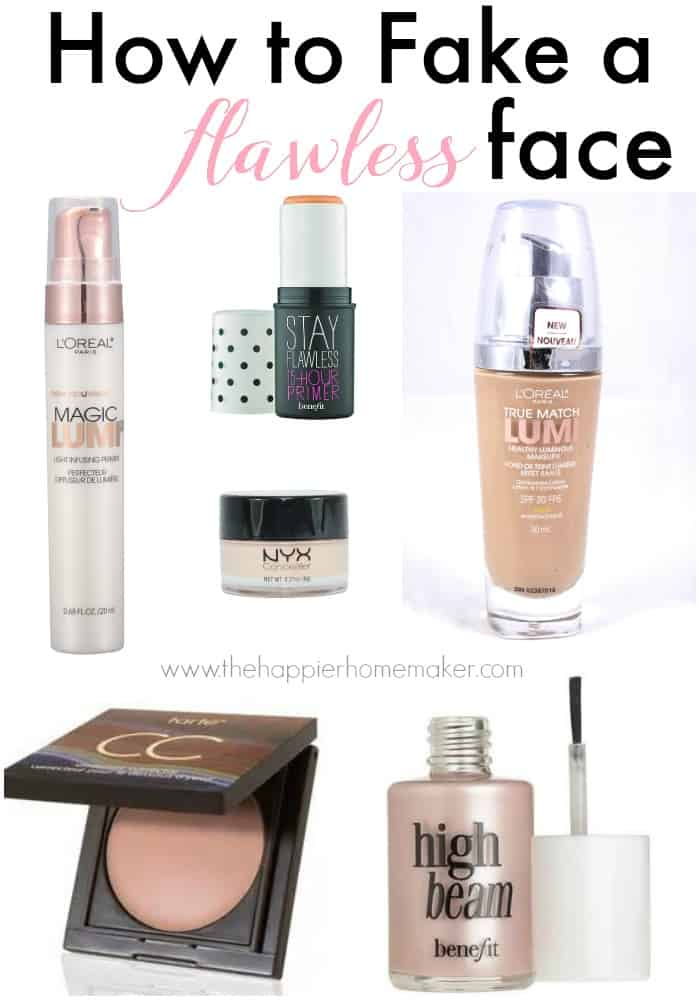 A collection of make up products