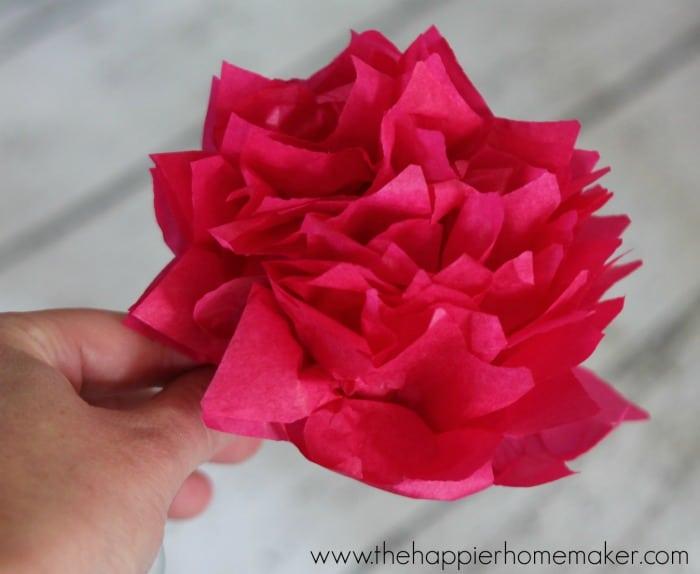 make a paper flower diy