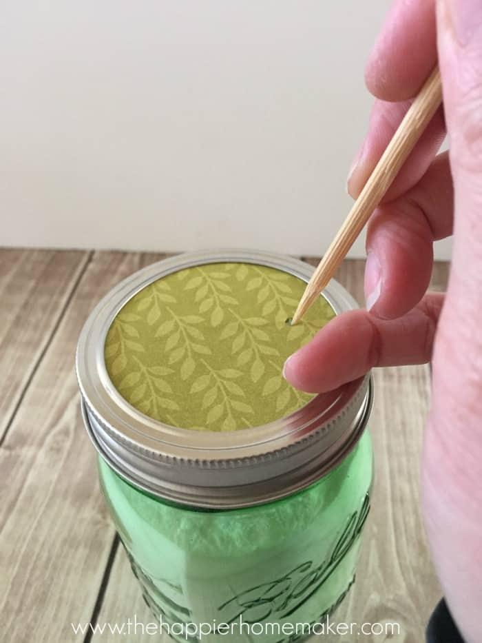 making carpet deodorizer top