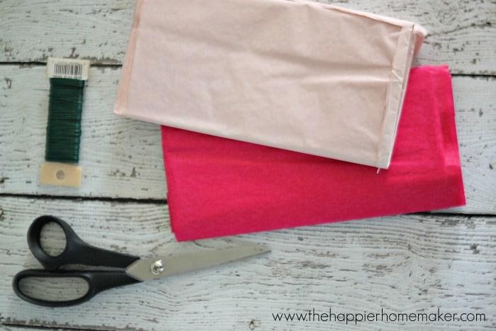 paper flower supplies
