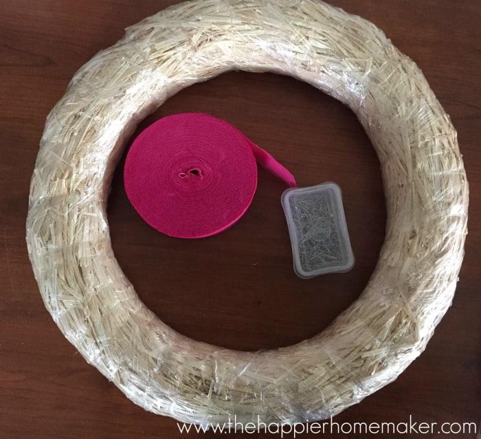 ruffle wreath supplies
