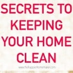 secrets to clean home