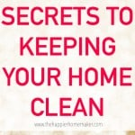 """The words """"secrets to keeping your home clean"""""""