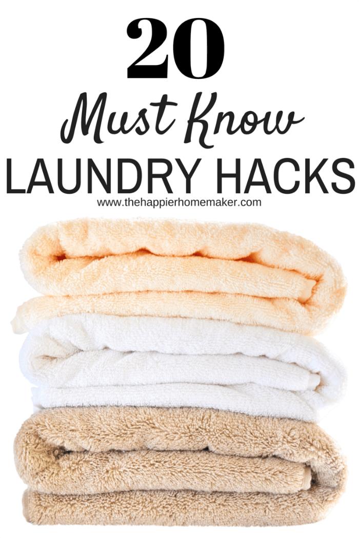 20+ laundry hacks