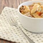 cheesy crockpot sausage tortellini