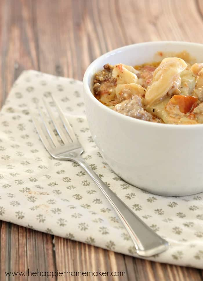 Crockpot Sausage Tortellini