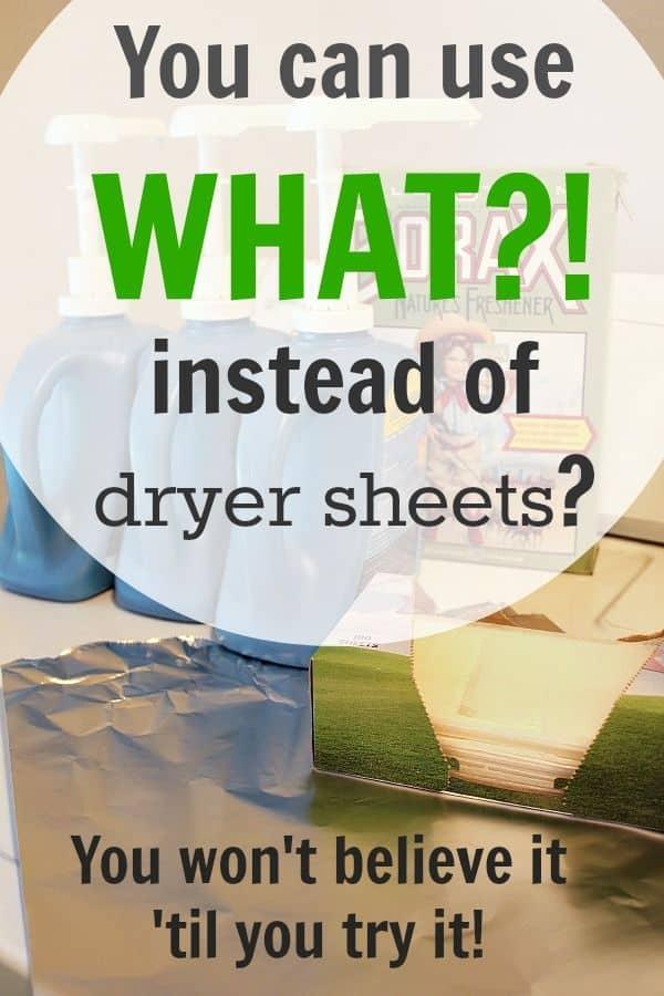 foil instead of dryer sheets