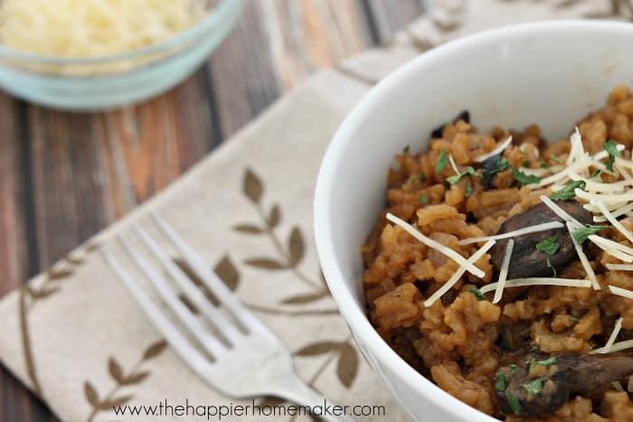 homemade mushroom risotto recipe