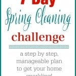 7 day spring cleaning schedule, and easy way to get your house clean if you don't want to spend the entire day scrubbing the house!