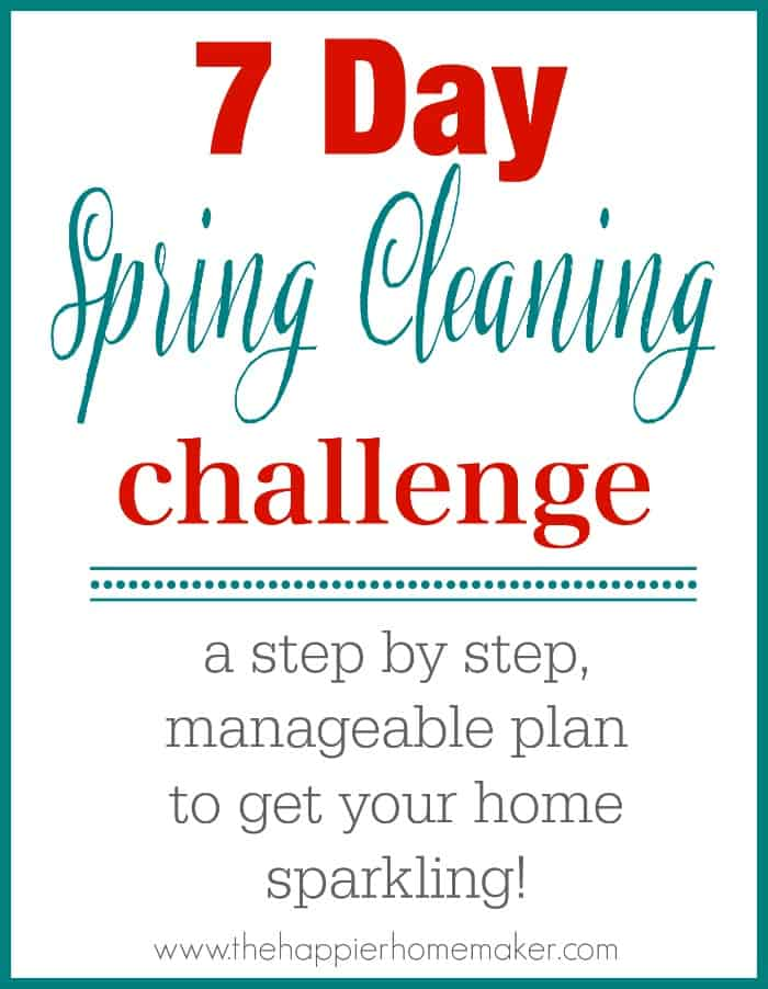 7 day spring cleaning challenge logo