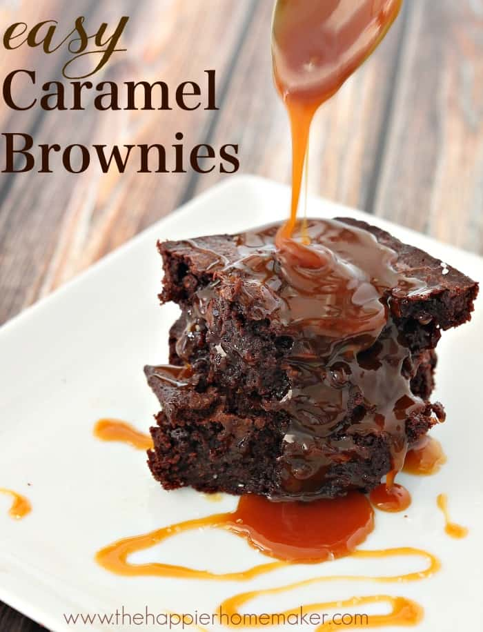 These easy to make caramel brownies whip up super fast and are one of the most indulgent desserts out there (did I mention you can make them with whole wheat flour??)