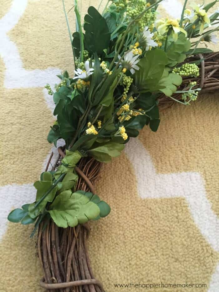 howto make spring wreath
