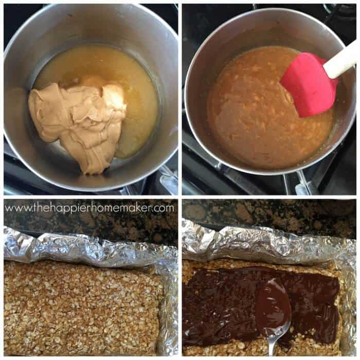 4 ingredient peanut butter bars