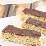 chocolate peanut butter healthy bars