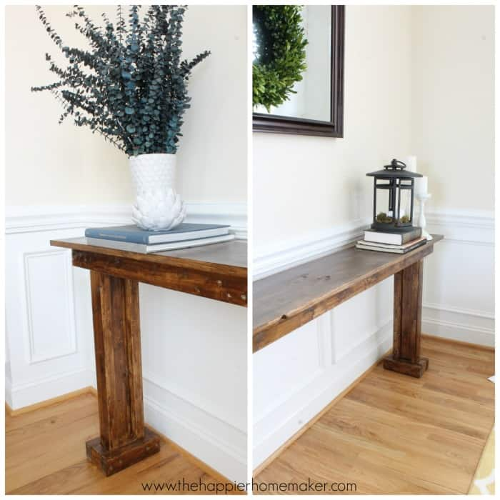 Stupendous Diy Console Table For 20 The Happier Homemaker Gmtry Best Dining Table And Chair Ideas Images Gmtryco