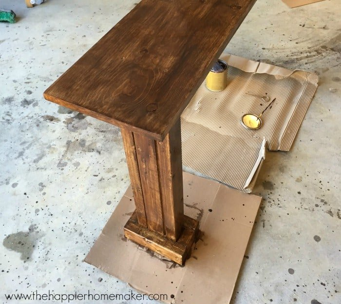 how to stain diy table