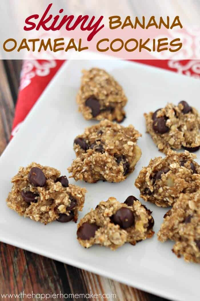 Skinny Banana Oatmeal Cookies Low Calorie Cookie Recipe