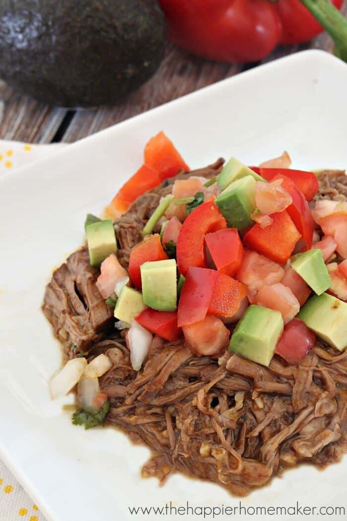 picture regarding Cafe Rio Printable Menu referred to as Restaurant Rio Copycat Shredded Beef Recipe (within the Crock Pot