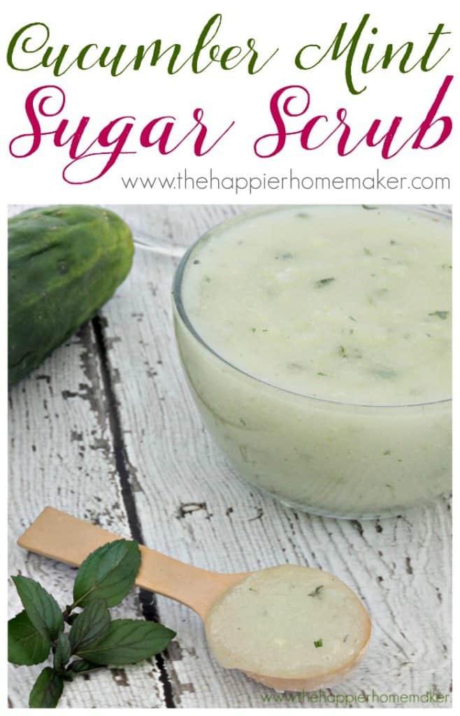 cucumber mint sugar scrub recipe
