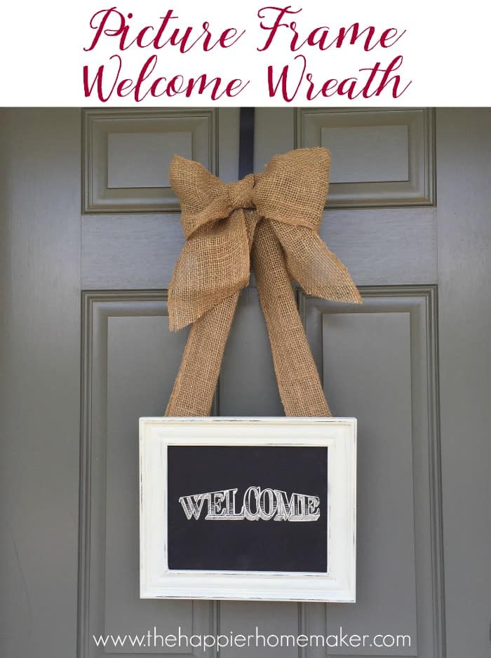 picture frame welcome wreath