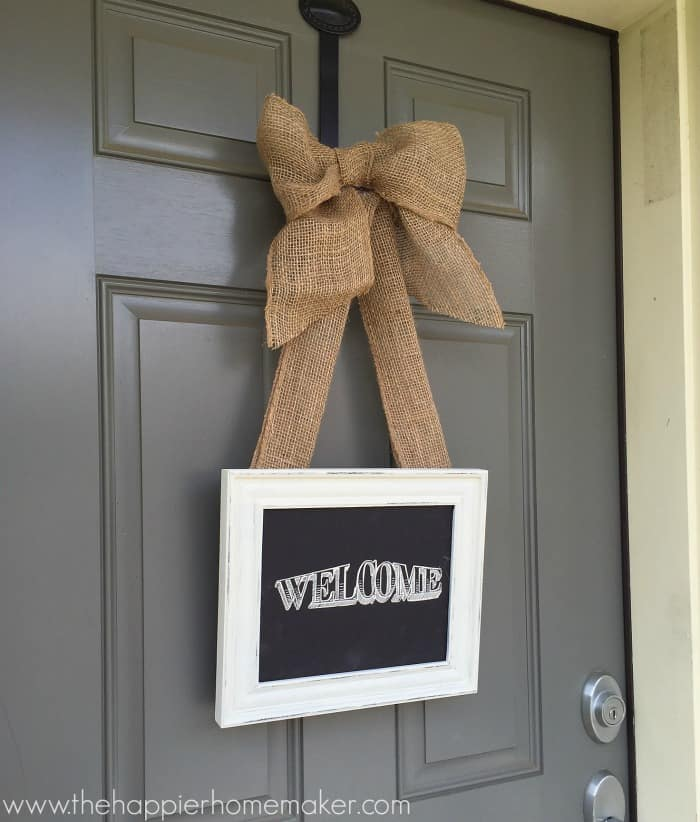 picture frame wreath