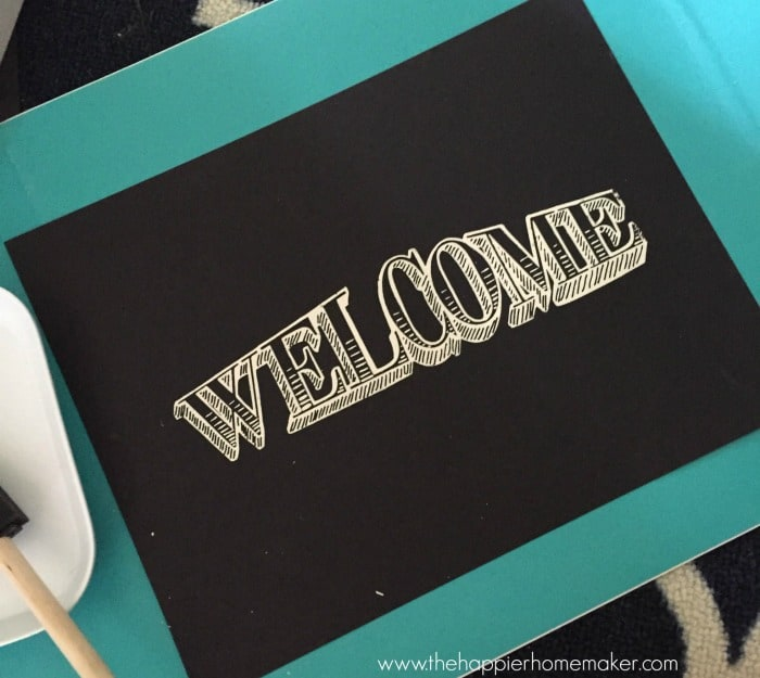 welcome screenprint after