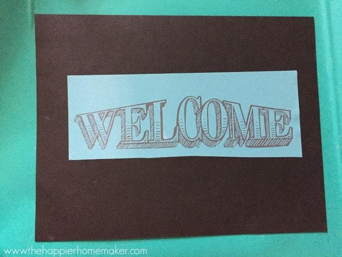welcome screenprint