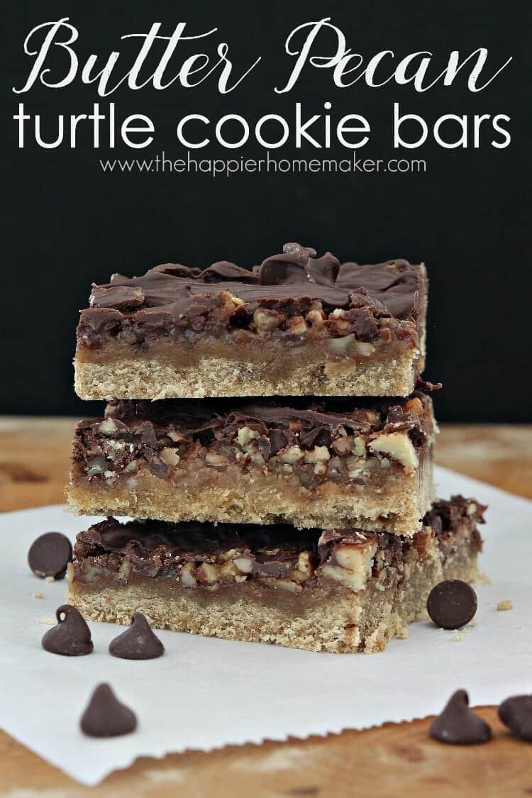 butter pecan turtle cookie bars