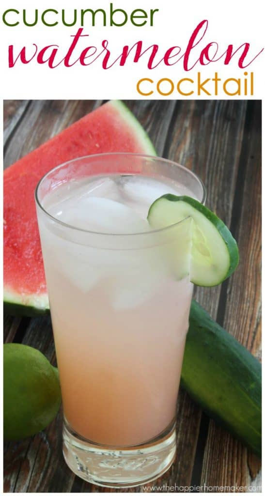 cucumber watermelon cocktail recipe